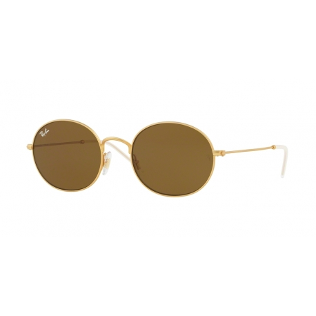 Ray-Ban RB3594 901373 | Frame: gold rubber | Lenses: dark brown