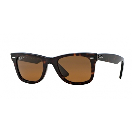 Ray-Ban RB2140 Wayfarer 902/57 | Frame: tortoise | Lenses: crystal brown polarized