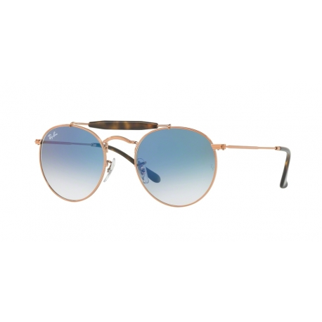 Ray-Ban RB3747 90353F | Frame: copper | Lenses: blue gradient