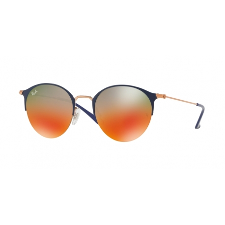 Ray-Ban RB3578 9036A8 | Frame: copper top blue | Lenses: light brown gradient red mirror