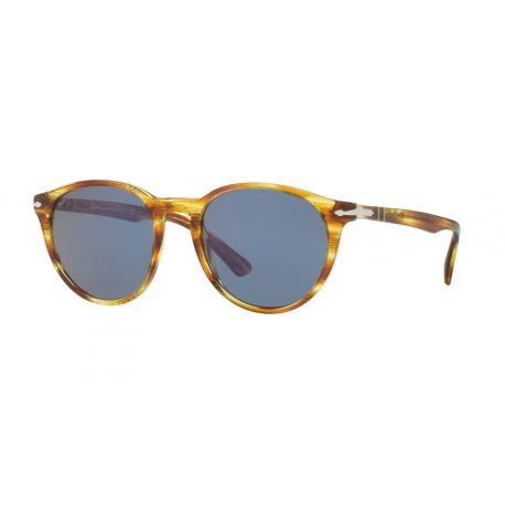 Persol PO3152S 904356 | Frame: striped brown yellow | Lenses: blue