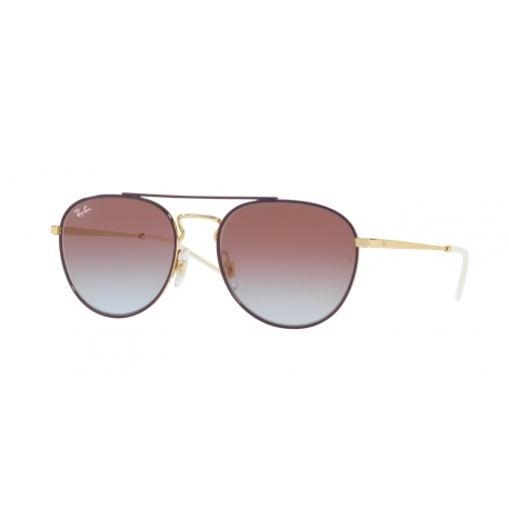 Ray-Ban RB3589 9059I8 | Frame: gold top on violet | Lenses: light blue gradient violet
