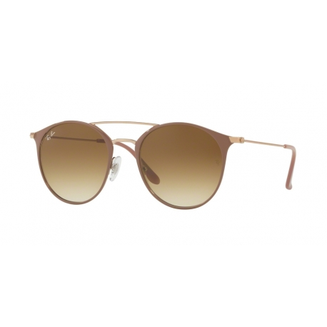 Ray-Ban RB3546 907151 | Frame: copper top on beige | Lenses: transparent gradient brown