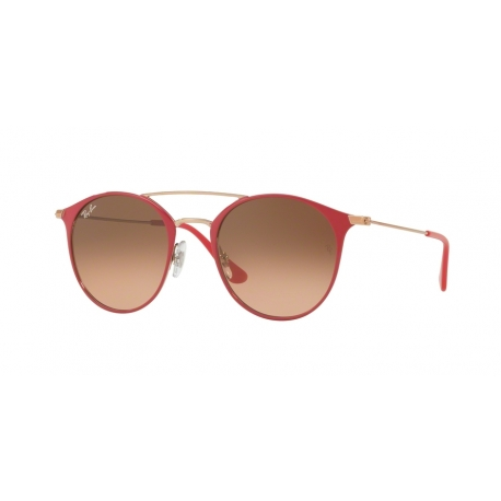 Ray-Ban RB3546 907271 | Frame: copper on top red | Lenses: pink gradient brown