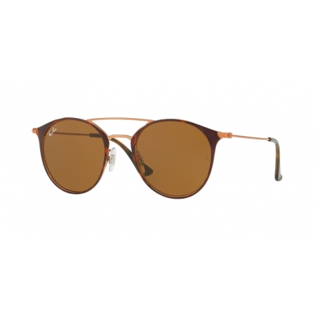 Ray-Ban RB3546 9074 | Frame: copper on top havana | Lenses: brown