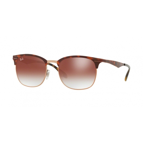 Ray-Ban RB3538 9074V0 | Frame:  copper on top havana  | Lenses: gradient red mirror red