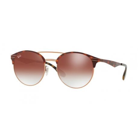 Ray-Ban RB3545 9074V0 | Frame:  copper on top havana  | Lenses: gradient red mirror red