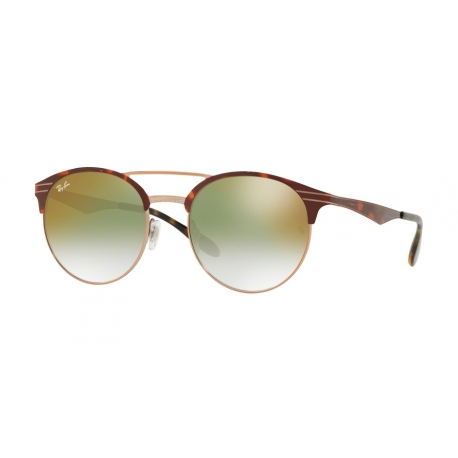 Ray-Ban RB3545 9074W0 | Frame:  copper on top havana  | Lenses: gradient green mirror red