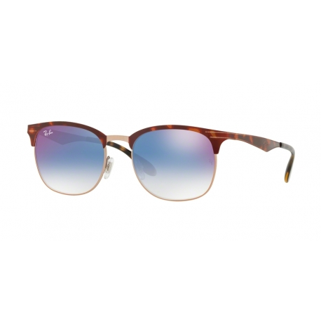 Ray-Ban RB3538 9074X0 | Frame:  copper on top havana  | Lenses: gradient blue mirror red