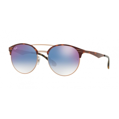 Ray-Ban RB3545 9074X0 | Frame:  copper on top havana  | Lenses: gradient blue mirror red