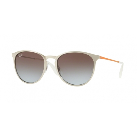 Ray-Ban RB3539 Erika Metal 90772W | Frame: brushed silver | Lenses: light blue gradient brown