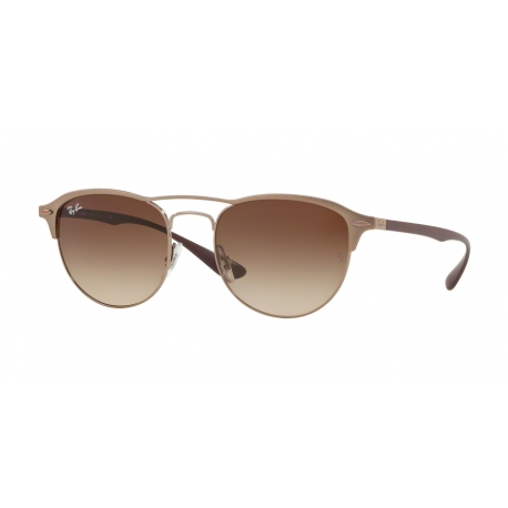 Ray-Ban RB3596 909213 | Frame: light brown on top matte | Lenses: brown gradient dark brown