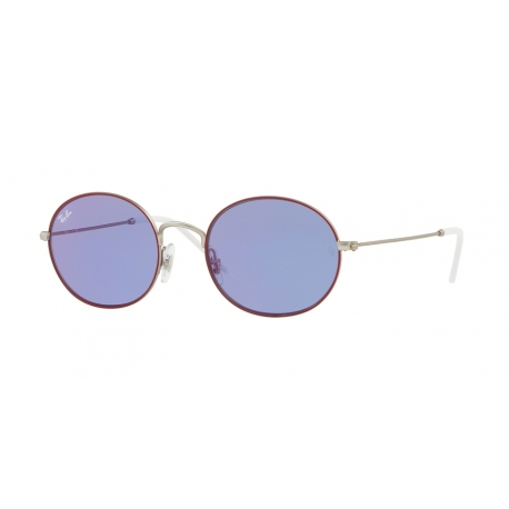 Ray-Ban RB3594 9112D1 | Frame: silver on top bordeaux | Lenses: dark violet mirror red