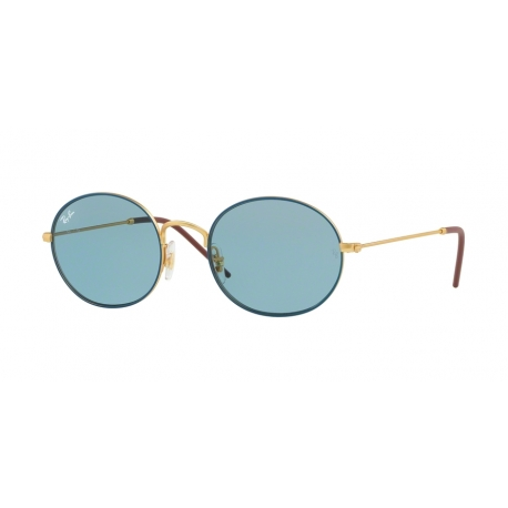 Ray-Ban RB3594 9113F7 | Frame: gold on top blue | Lenses: light blue