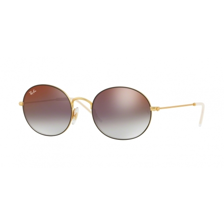 Ray-Ban RB3594 9114U0 | Frame: gold rubber on top black | Lenses: grey gradient mirror red