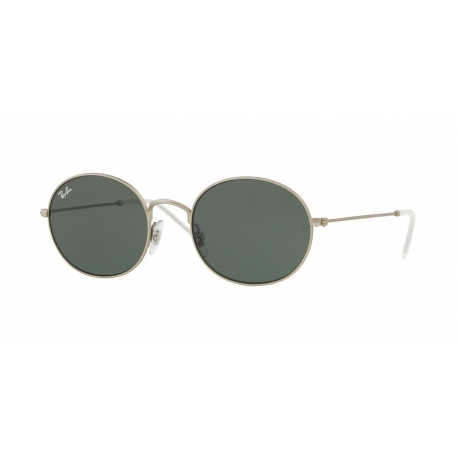 Ray-Ban RB3594 911671 | Frame: rubber silver | Lenses: dark green