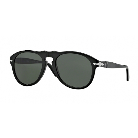 Persol PO0649 95/31 | Frame: black | Lenses: crystal green