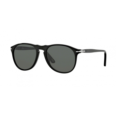 Persol PO9649S 95/58 | Frame: black | Lenses: crystal green polarized