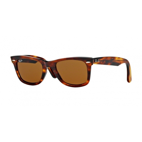 Ray-Ban RB2140 Wayfarer 954 | Frame: light tortoise | Lenses: crystal brown