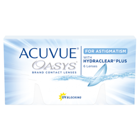 Johnson & Johnson ACUVUE OASYS for ASTIGMATISM | Type: toric for astigmatism in silicone hydrogel | Life: 2 week disposable
