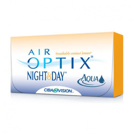 Ciba Vision Air Optix Night&Day Aqua | Type: spherical for myopia and hypermetropia | Life: monthly disposable