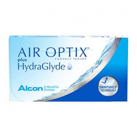 Ciba Vision AIR OPTIX plus HydraGlyde | Type: spherical for myopia and hypermetropia | Life: monthly disposable