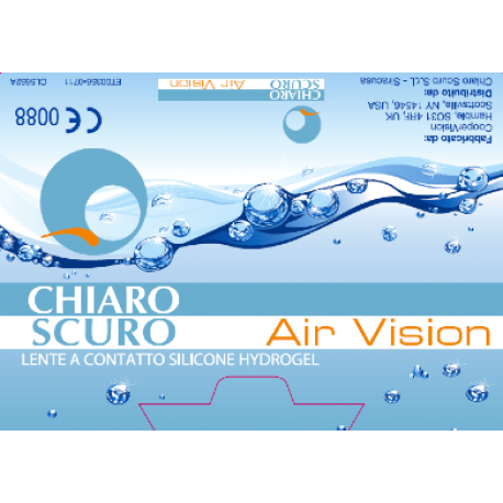 Chiaro Scuro Air Vision | Type: aspherical for myopia and hypermetropia | Life: monthly disposable