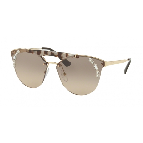 Prada PR 53US C3O3D0 | Frame: gold, opal spotted brown | Lenses: light brown gradient light grey