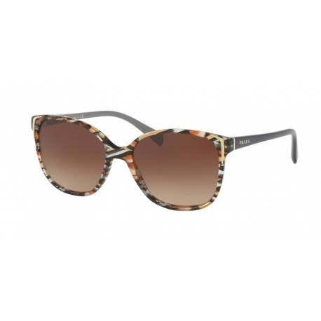 Prada PR 01OS CO56S1 | Frame: havana, avio blue | Lenses: brown gradient