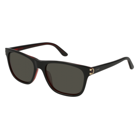 Cartier CT0001S 001 | Frame: black | Lenses: grey anti-reflective