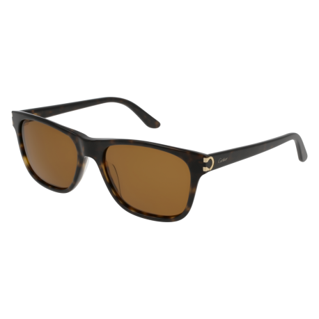 Cartier CT0001S 002 | Frame: havana | Lenses: brown anti-reflective