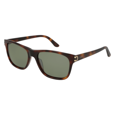 Cartier CT0001S 003 | Frame: havana | Lenses: green anti-reflective