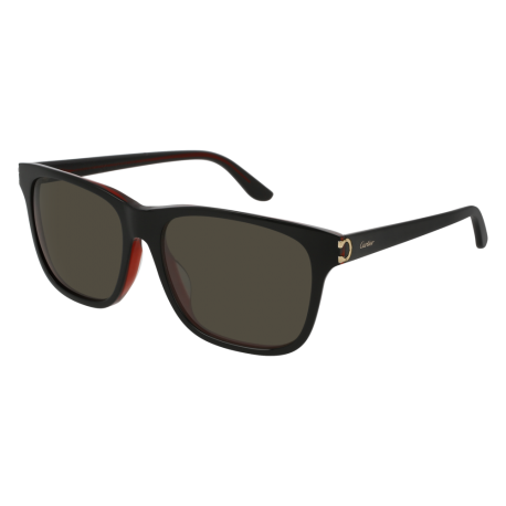 Cartier CT0001SA 001 | Frame: black | Lenses: grey anti-reflective