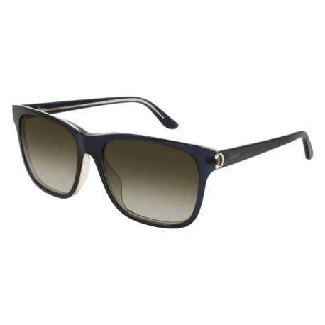 Cartier CT0001SA 004 | Frame: blue | Lenses: green