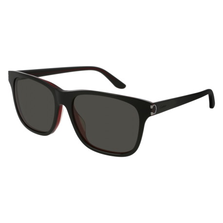 Cartier CT0001SA 005 | Frame: black | Lenses: grey anti-reflective