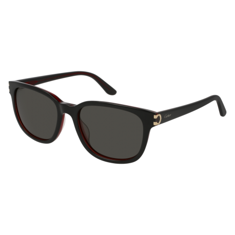 Cartier CT0002S 001 | Frame: black | Lenses: grey anti-reflective