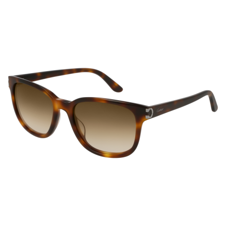 Cartier CT0002S 003 | Frame: havana | Lenses: brown