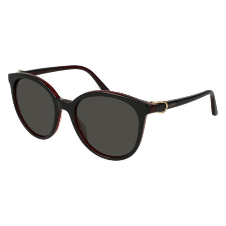 Cartier CT0003S 001 | Frame: black | Lenses: grey anti-reflective