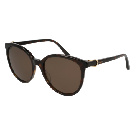 Cartier CT0003S 002 | Frame: havana | Lenses: brown anti-reflective