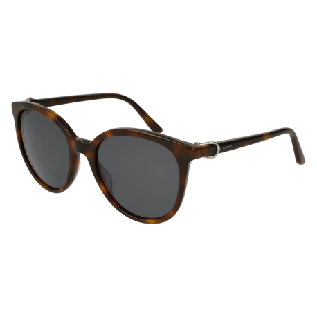 Cartier CT0003S 003 | Frame: havana | Lenses: grey anti-reflective