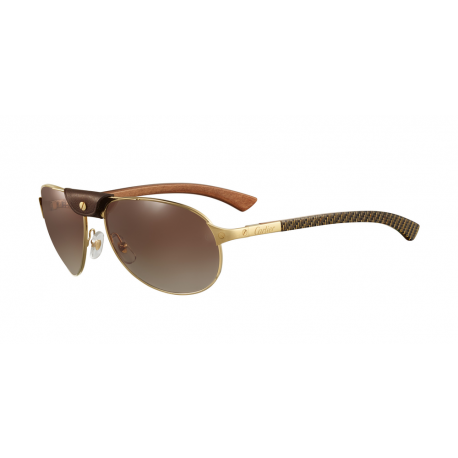 Cartier CT0088S 001 | Frame: gold | Lenses: brown