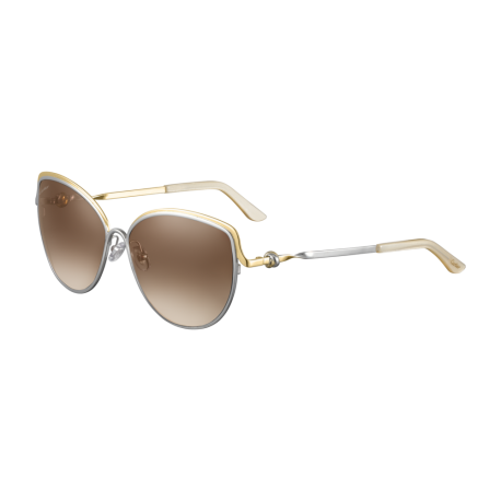 Cartier CT0089S 001 | Frame: silver | Lenses: brown