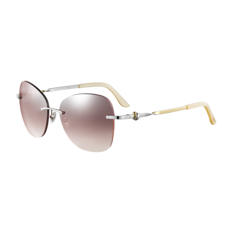 Cartier CT0091S 003 | Frame: silver | Lenses: pink