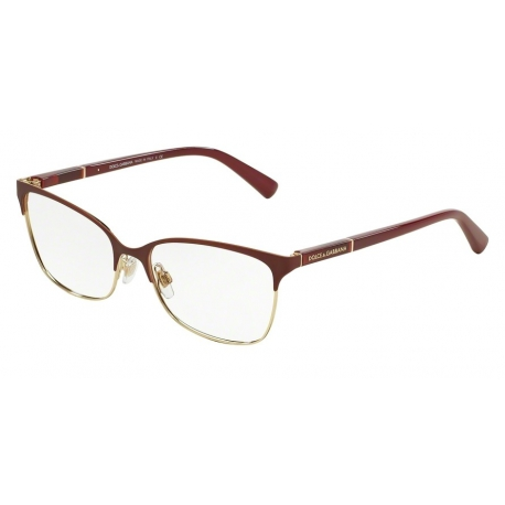 Dolce & Gabbana DG1268 1255 | Frame: matte dark red, pale gold