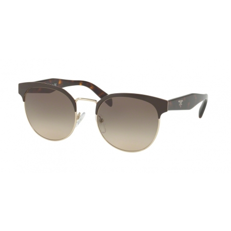 Prada PR 61TS DHO3D0 | Frame: brown, pale gold | Lenses: brown gradient grey