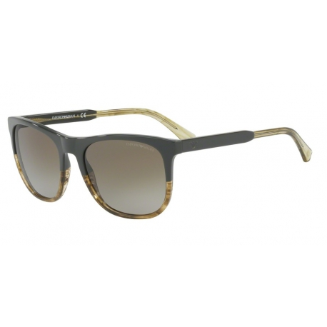 Emporio Armani EA4099 557113 | Frame: military green, striped honey transparent
