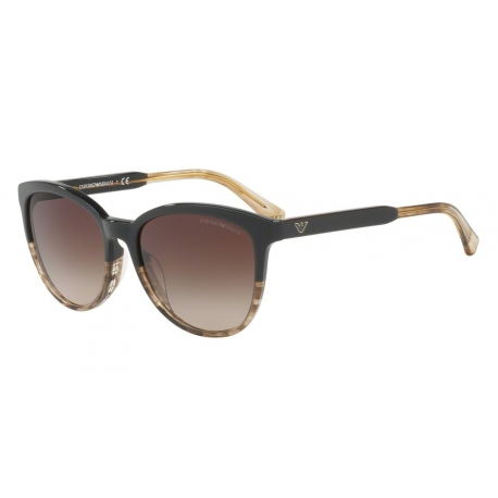 Emporio Armani EA4101 556713 | Frame: brown, transparent striped beige