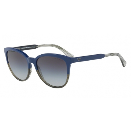Emporio Armani EA4101 55688G | Frame: blue, transparent striped green
