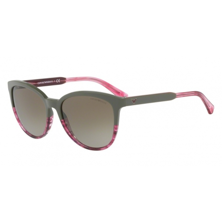 Emporio Armani EA4101 556913 | Frame: military green, transparent striped pink