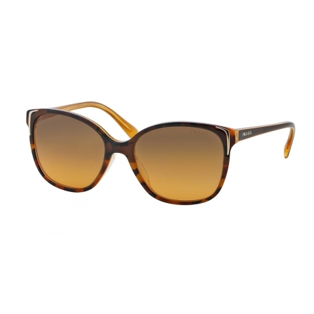 Prada PR 01OSA FAL0A8 | Frame: top light havana, opal yellow | Lenses: brown gradient yellow